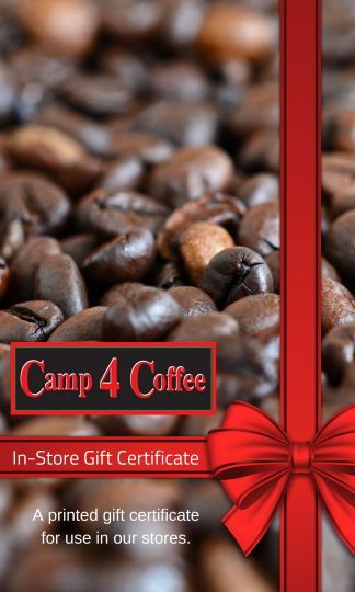 Camp4Coffee In-Store Gift Certificate