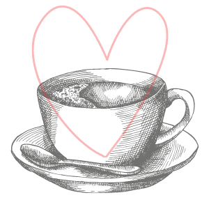 a cup of coffee with a heart